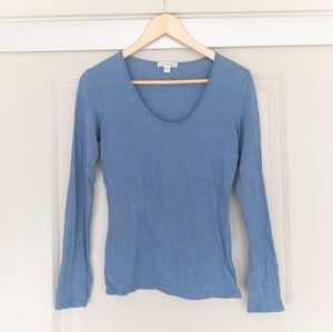James Perse Blue Long Sleeve Top